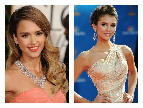 макияж для персикового платья