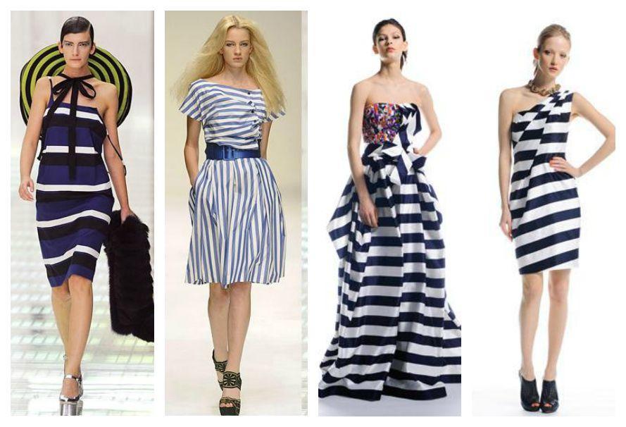 одежда в морском стиле на модных показах