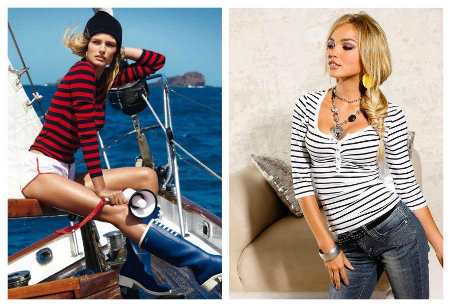 современная женская одежда в морском стиле