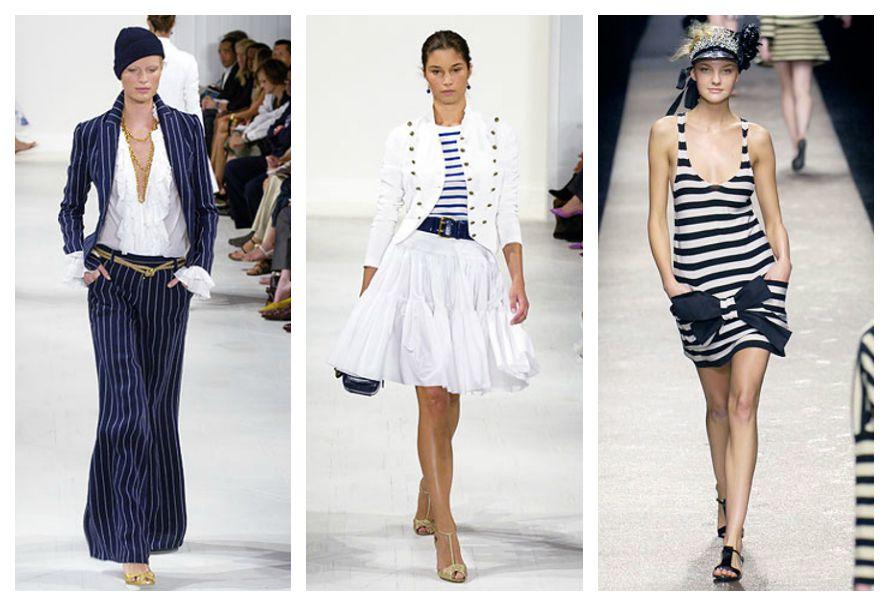 женская одежда в морском стиле