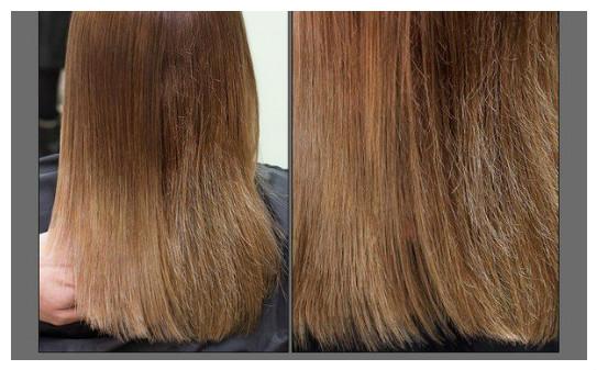 фото до и после полировки волос
