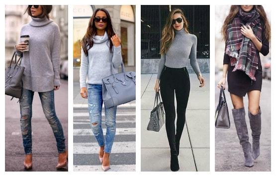 с черными и синими джинсами
