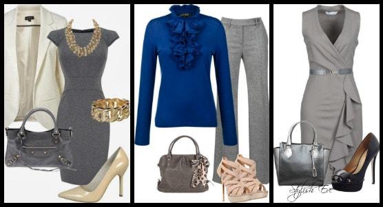 с одеждой синего цвета