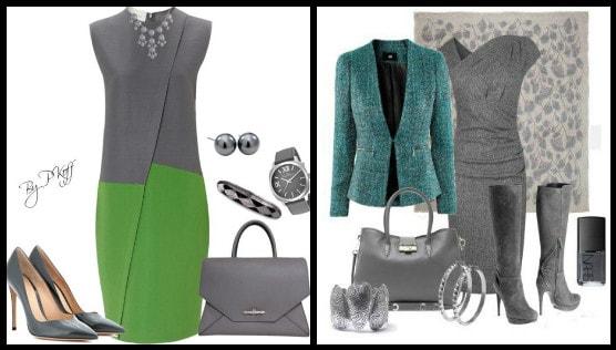 с одеждой зеленого цвета