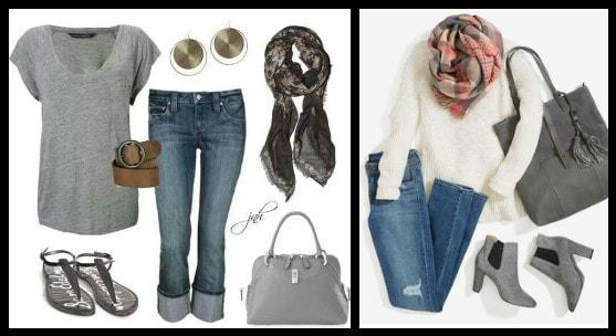 с шарфиком и джинсами