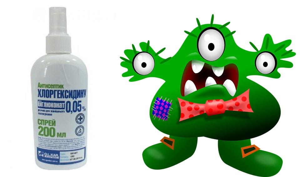 как полоскать рот хлоргексидином