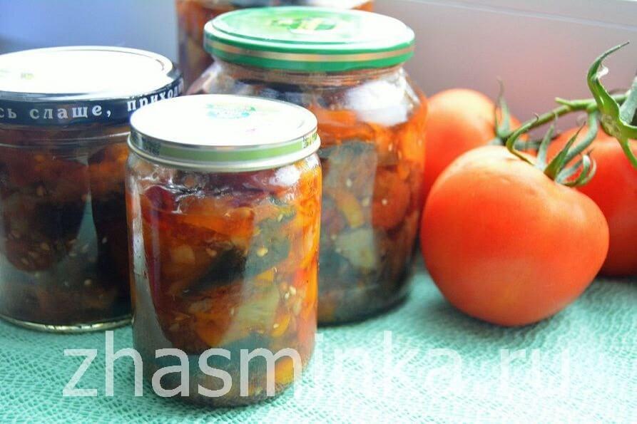 Закуска из острых баклажанов на зиму — рецепт с фото