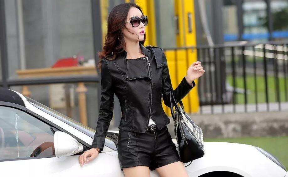 Женская модная кожаная одежда