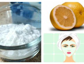 маски из соды и лимона для лица