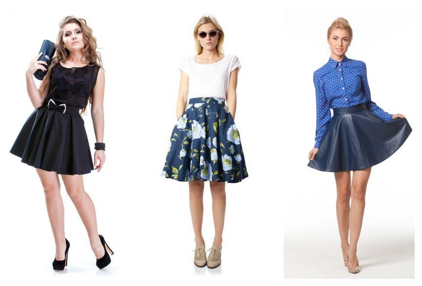 модные расклешенные юбки